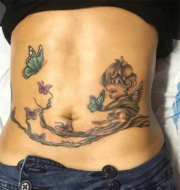 best 24 stomach tattoos design idea for men and women tattoos art ideas. Black Bedroom Furniture Sets. Home Design Ideas