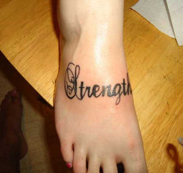 strength tattoo for females
