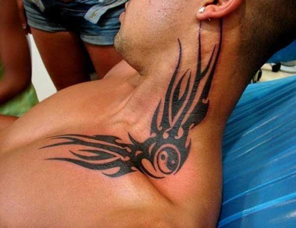 tribal neck tattoos