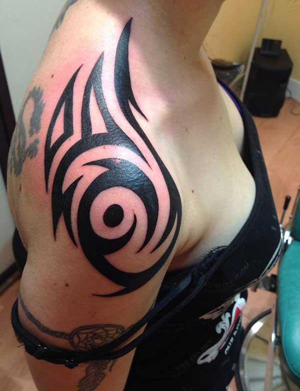 Tribal tattoo designs shoulder for women for Women s tribal tattoos designs