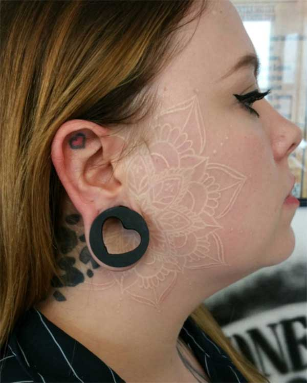 cool white ink tattoos