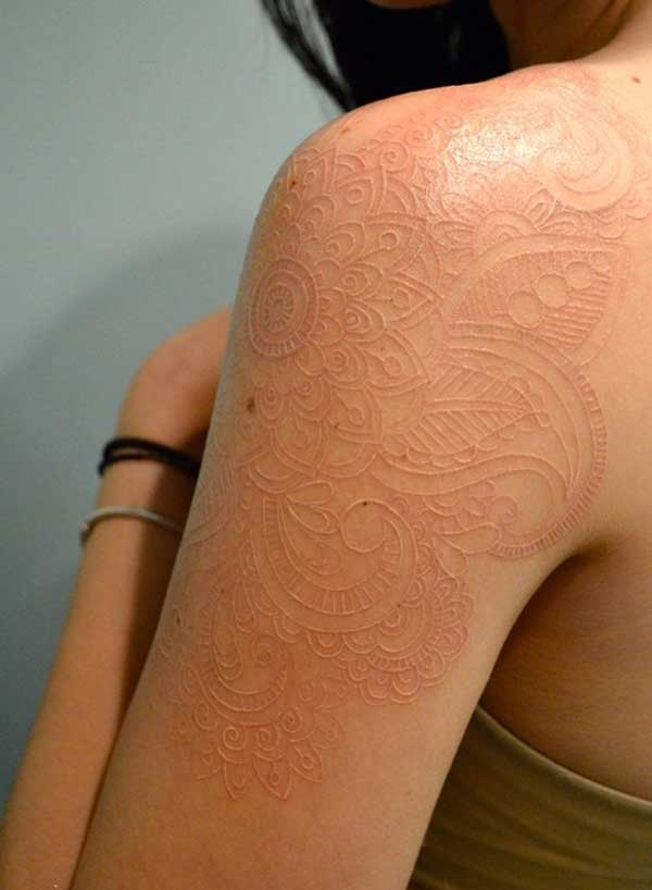 white tattoo designs