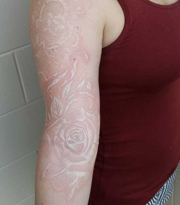 white flower tattoos