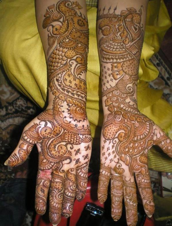 Morsiamen Mehndi tatuointi malleja idea