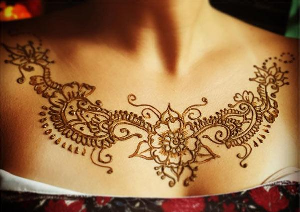 Chest Henna / Mehndi tattoo designs idea