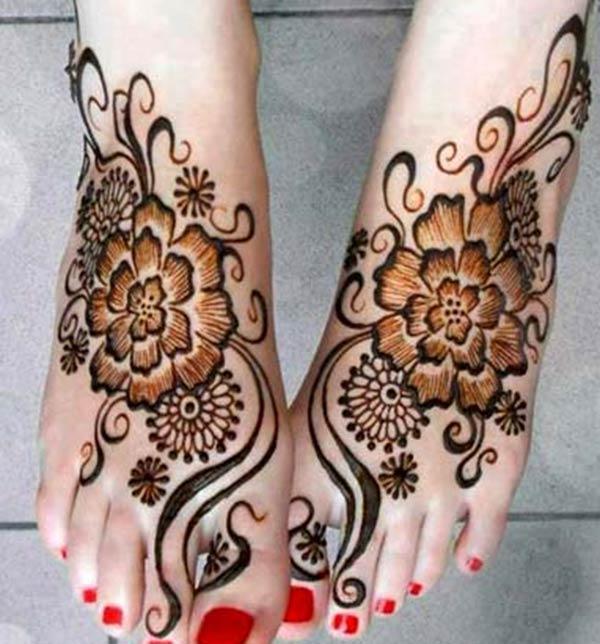 Feet Mehndi xăm thiết kế ý tưởng
