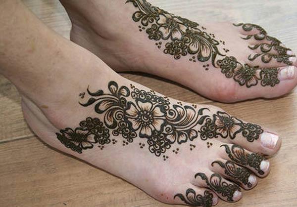 Feet Henna / Mehndi xăm thiết kế ý tưởng