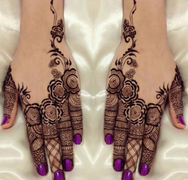 fingers Mehndi tattoo designs idea