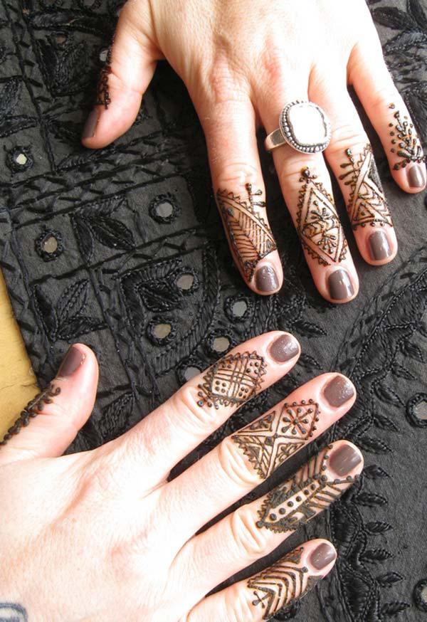Jari reka bentuk tatu Henna / Mehndi