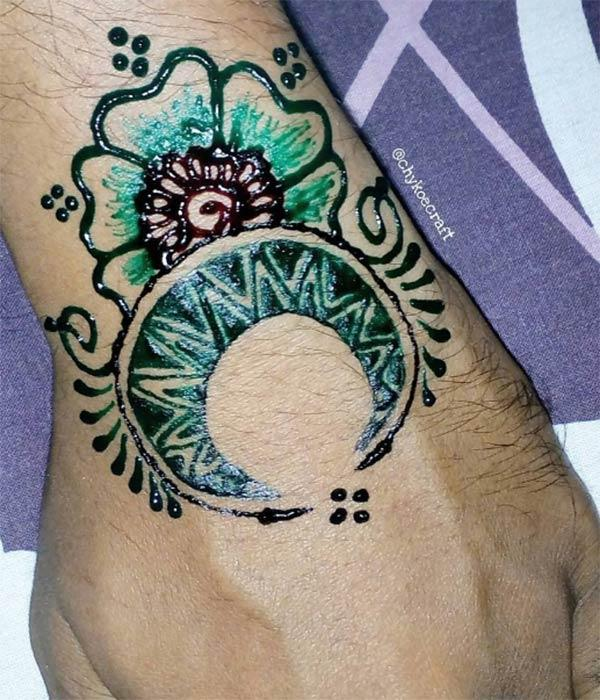 Reka bentuk tatu Mehndi lelaki
