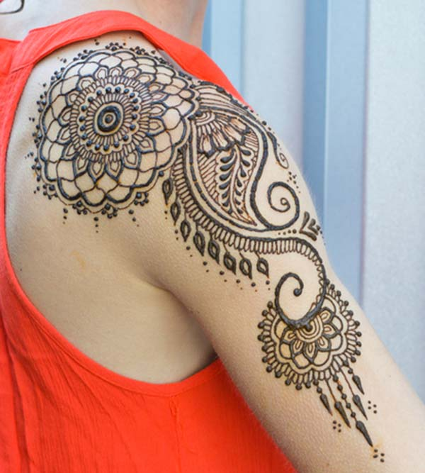Shoulder Henna / Mehndi tattoo designs idea