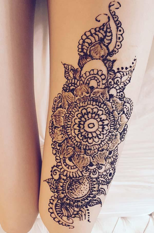 Henna Mehndi Tattoo Designs Idea For Wrist: Henna Mehndi Tattoo Designs Idea For Thigh