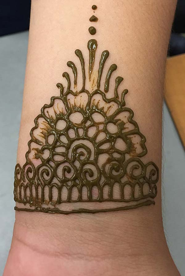 Henna Flower Wrist Tattoos: Henna Mehndi Tattoo Designs Idea For Wrist
