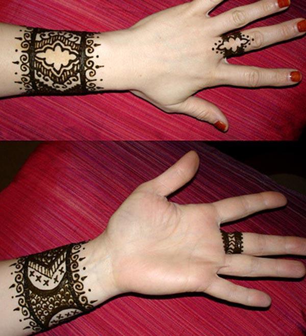 மணிக்கட்டு ஹென்னா / மெஹந்தி பச்சை வடிவமைப்பு யோசனை