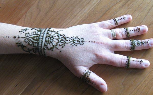 Henna Style Wrist Tattoo: Henna Mehndi Tattoo Designs Idea For Wrist
