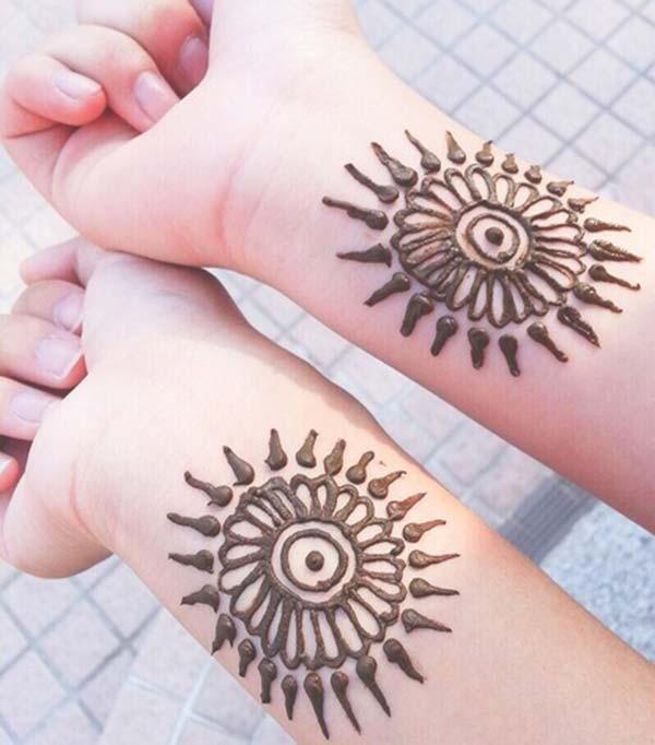 Wrist Tattoos With Mehndi