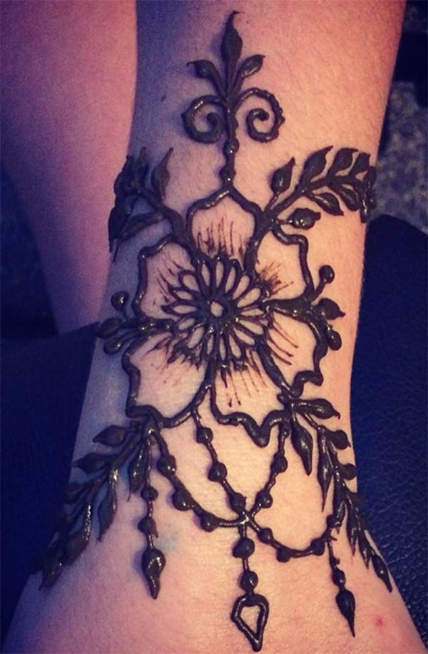 Henna Style Wrist Tattoo: Henna Mehndi Tattoo Designs Idea For Wrist