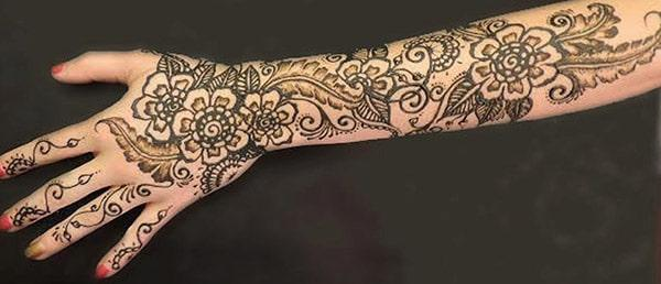 Henna tattoo arm innen for Henna tattoo arm designs