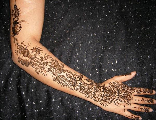 Full arm Henna / Mehndi tatoveringsdesign ide