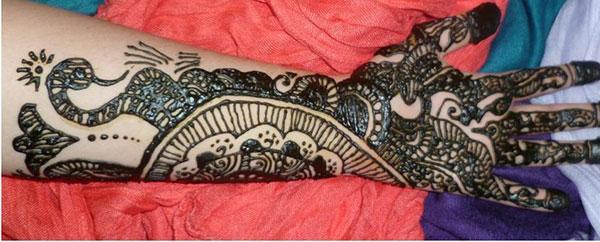 Πλήρες χέρι Henna / Mehndi σχεδίαση τατουάζ ιδέα