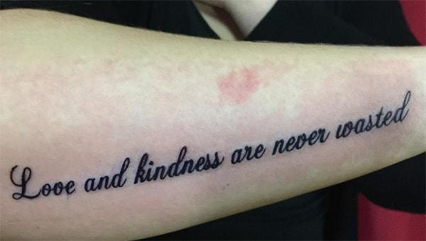 Mīlestība un laipnība nekad netiek izšķērdēta