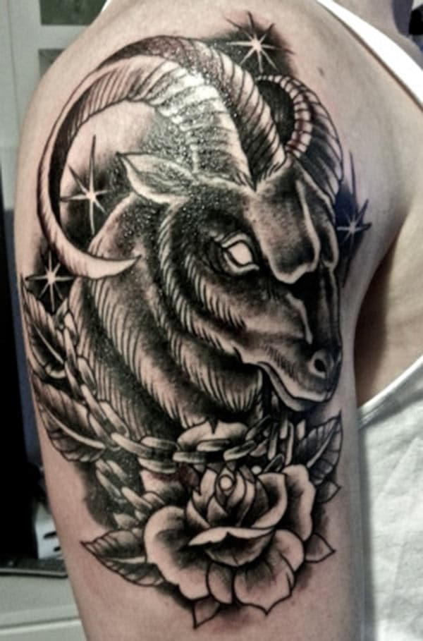 Creative Aries Tattoo design idea for guys