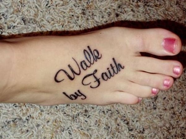 with vigour with the walk by faith tattoo