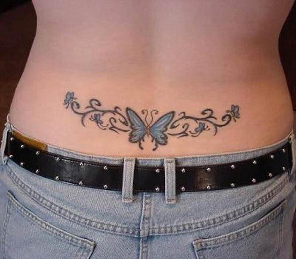 A beautiful lower back tattoo idea for girls