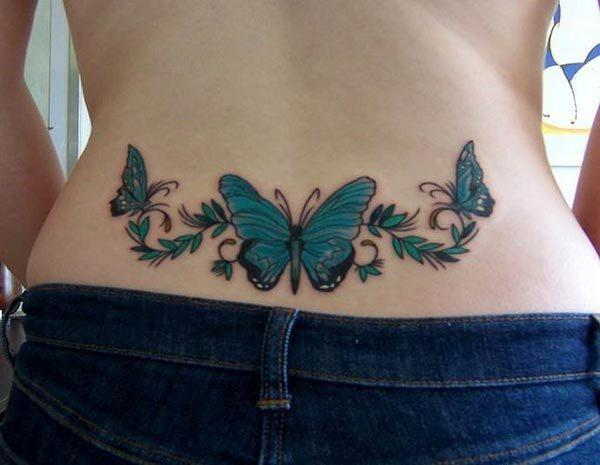 A stunning lower back tattoo design for girls
