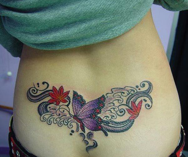 A magical lower back tattoo design for Women