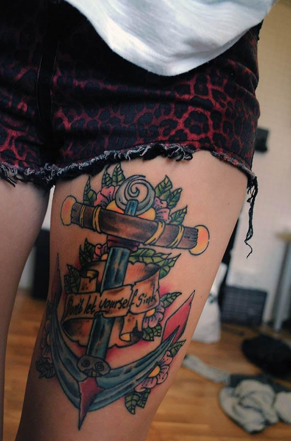 girly Anker Tattoo'en
