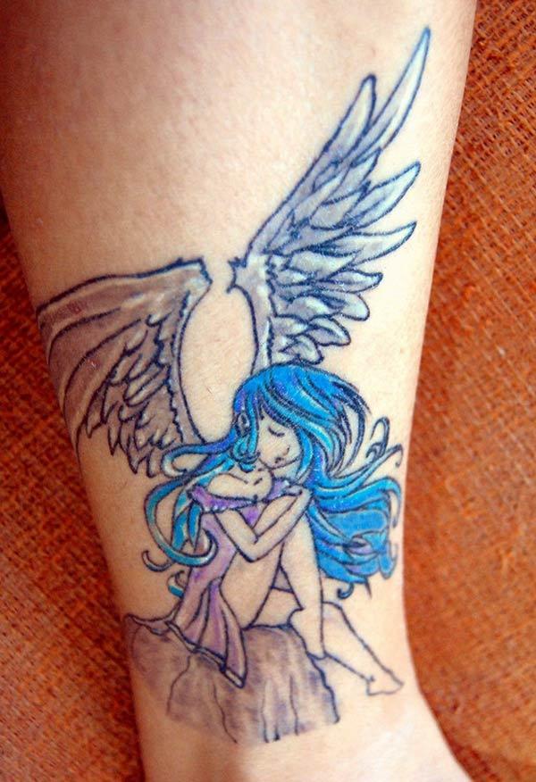 weiblechen Engel Tattoo'en