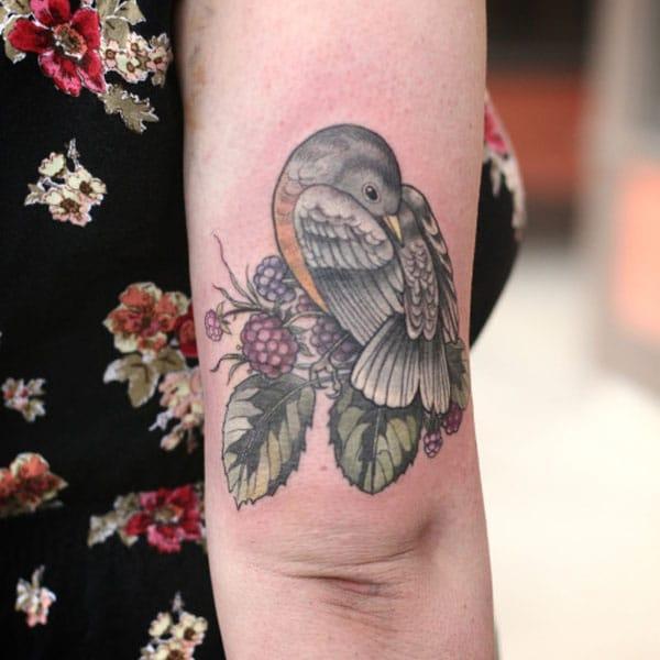 дизайн татуировки птицы