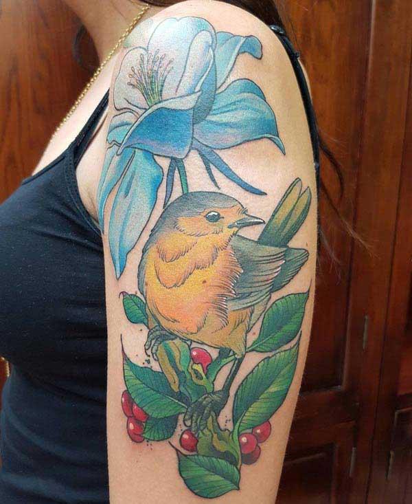 милые татуировки птицы