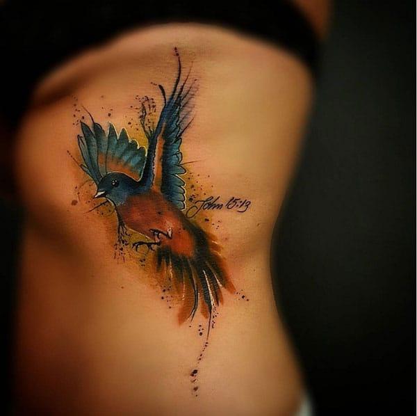 красочные татуировки