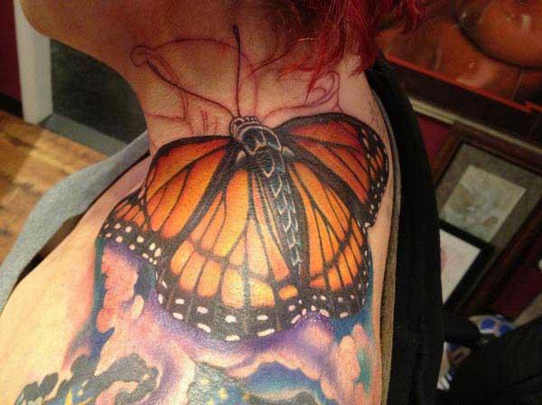 3d vlinder tattoos