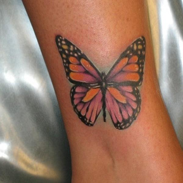 butterfly ankle tattoos