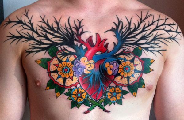 mellores tatuaxes no peito