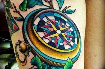 Ystyr Tattoo Compass