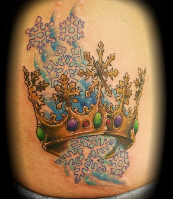 kóróna tattoo hugmyndir