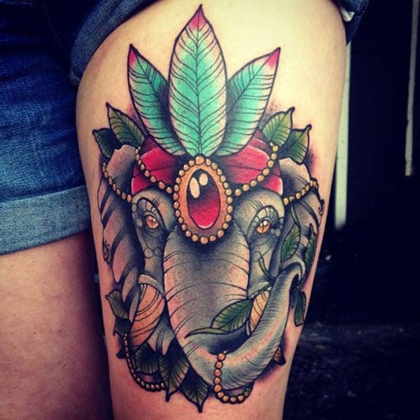 tatuazhe të bukur elefantësh