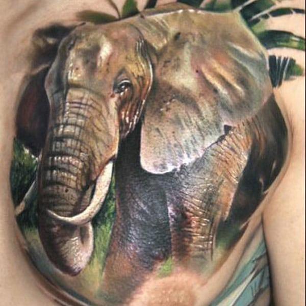 Σχεδιασμός τατουάζ ελέφαντα
