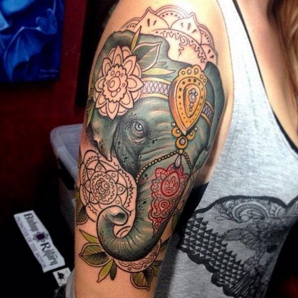 dizajn tatuazhet elefant