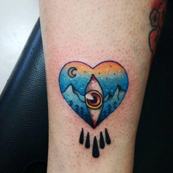 söta hjärta tatueringar