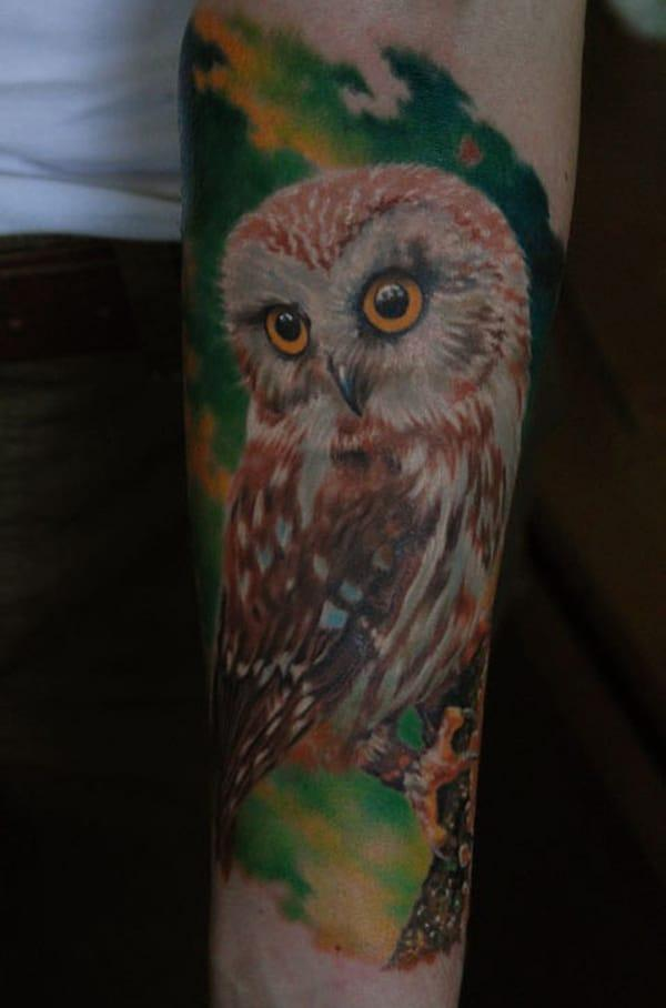 baykuş dövmeleri tasarımları