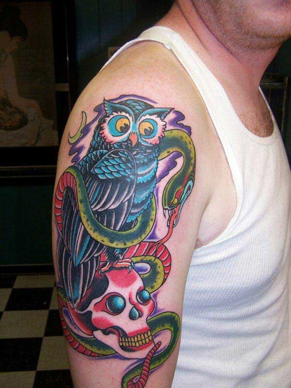 owl tattoos for guys