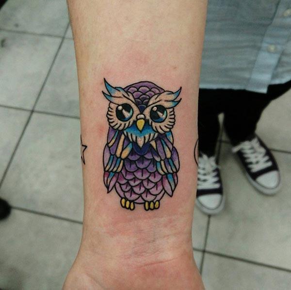 sevimli baykuş dövmeleri