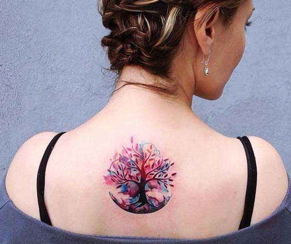 pretty back tattoos