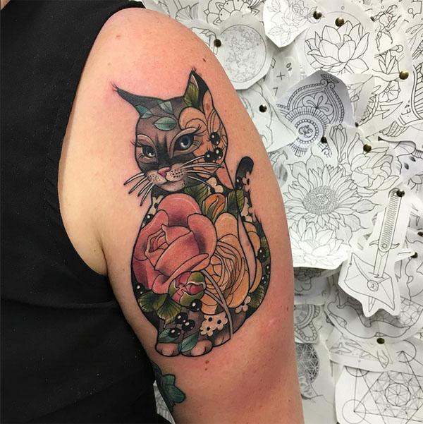 tatouages ​​de chat photos