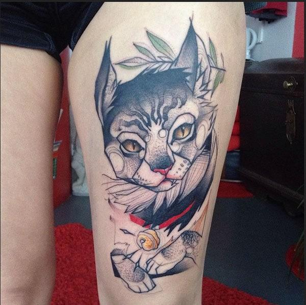 dessins de tatouages ​​de chat